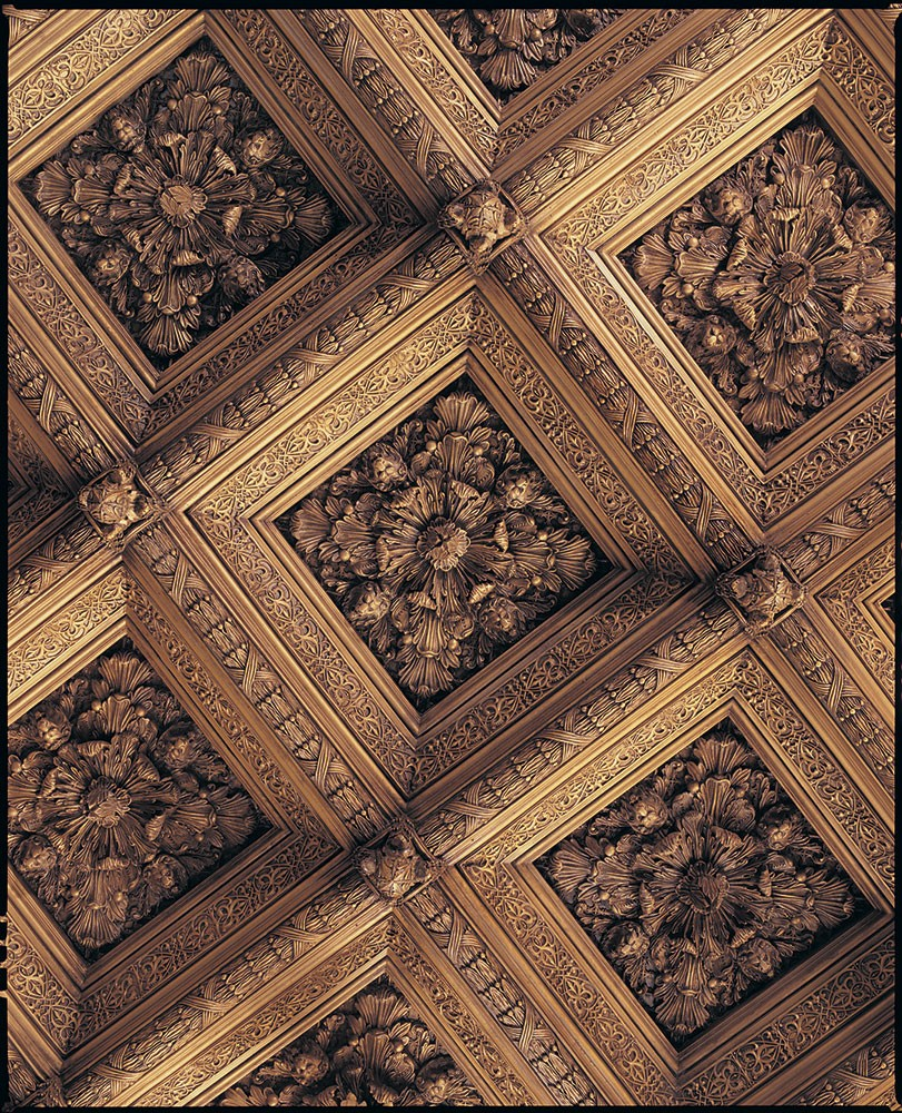 Ceil 122 Resin Ceiling Tile With Lion Faces And Acanthus