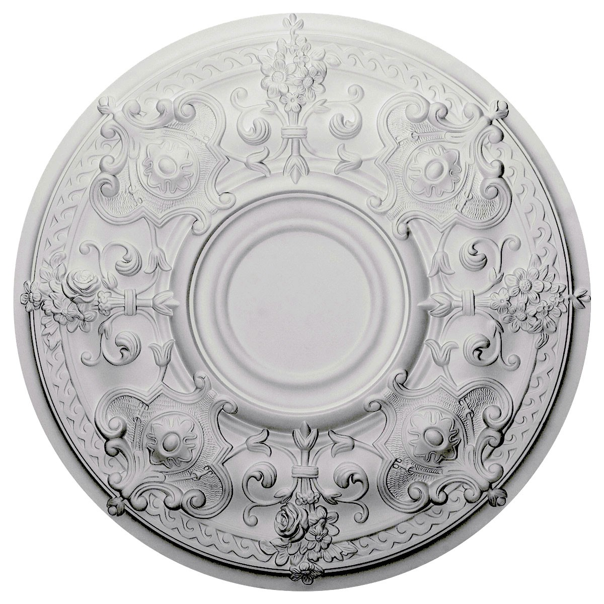 ceiling split medallion p westinghouse victorian white medallions piece in