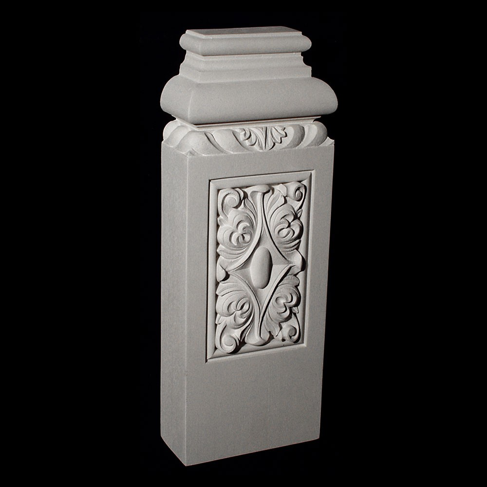 BASE-200R Series Profile Resin Columns Base with Acanthus leaf and Rosette)
