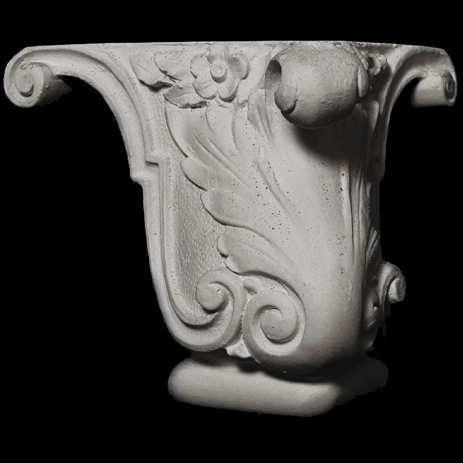 BASE-100 Series  Acanthus leaf classic resin furniture leg