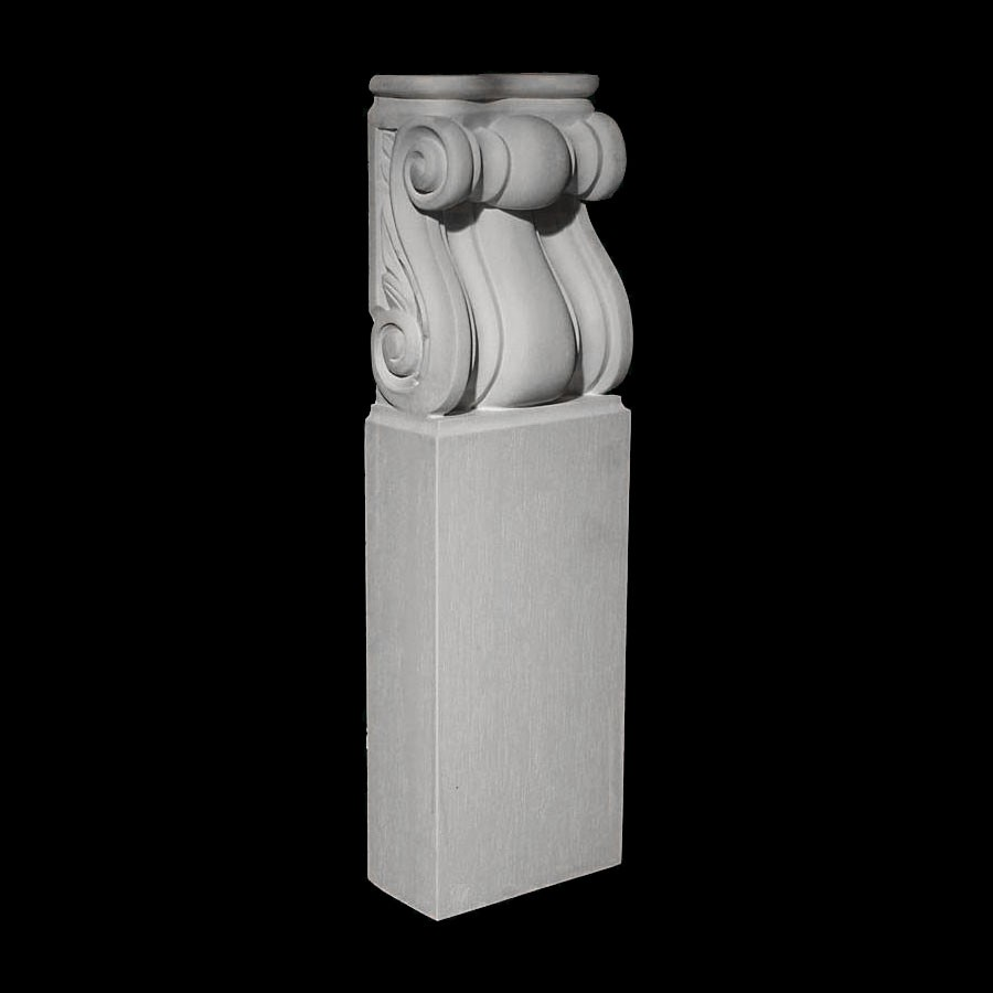 BASE-122 Series Profile and Scroll Resin Columns Base