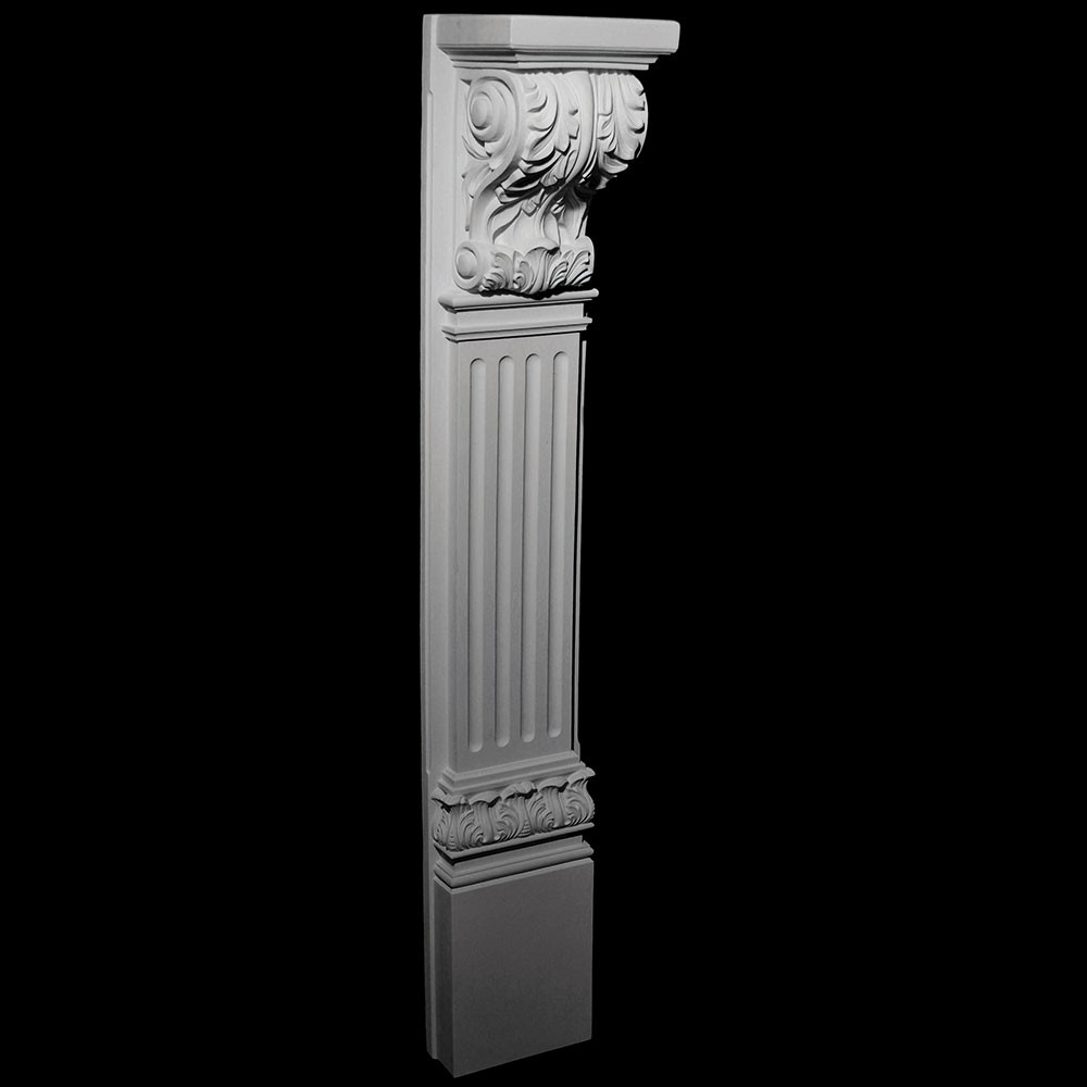 base 130 fireplace mantel resin base with acanthus leaf corbel