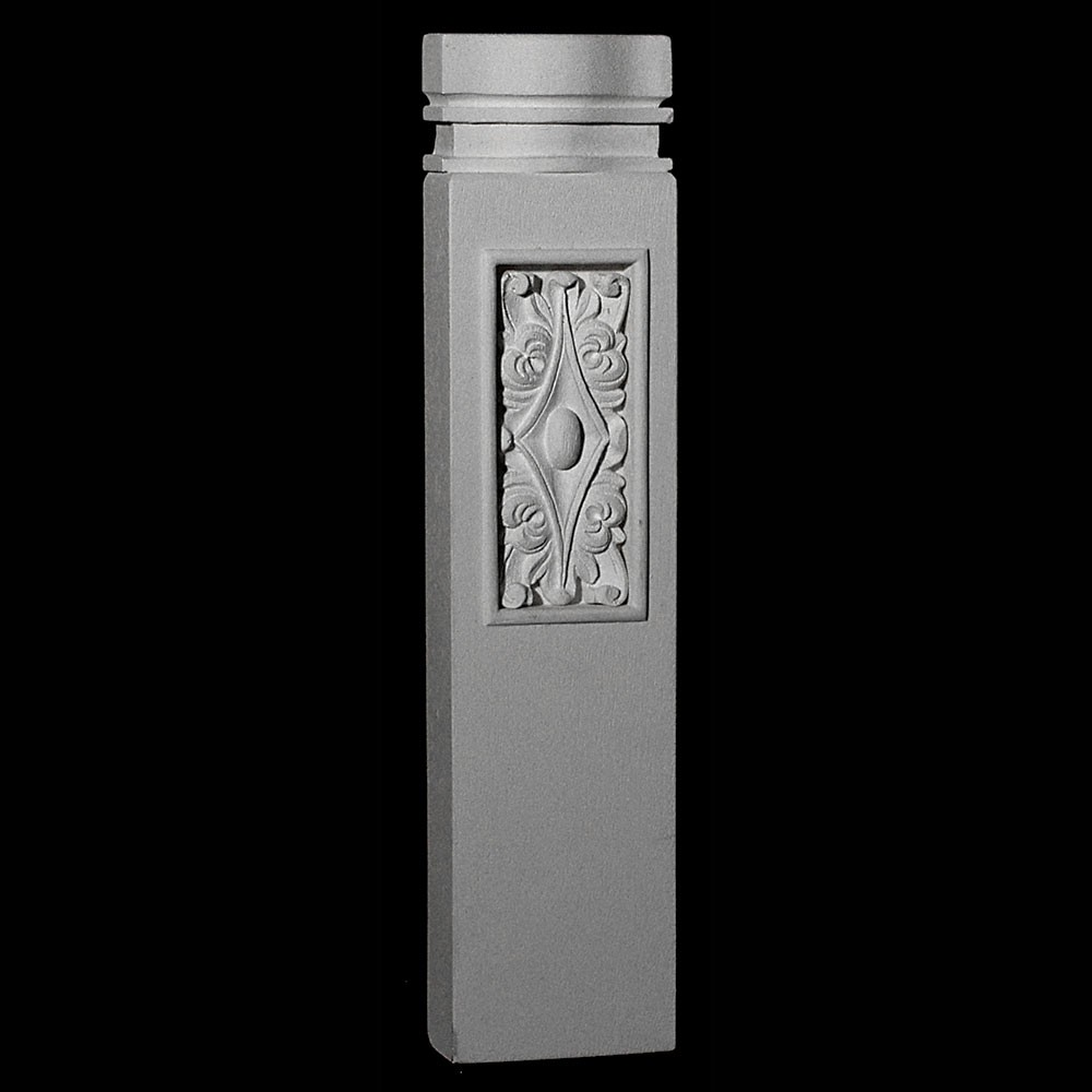 BASE-150R Series Profile Resin Columns Base with Acanthus Leaf Rosette