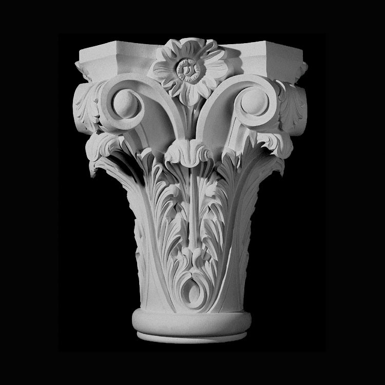 CAP-134 Series Acanthus Leaf and Flower Resin Capitol