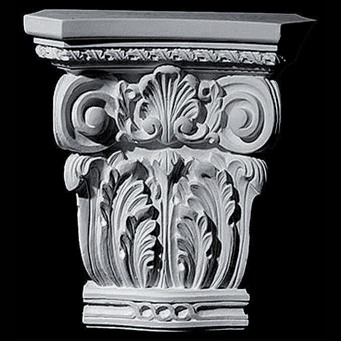 CAP-147 Series Corinthian Acanthus Leaf and Shell Resin Capitol