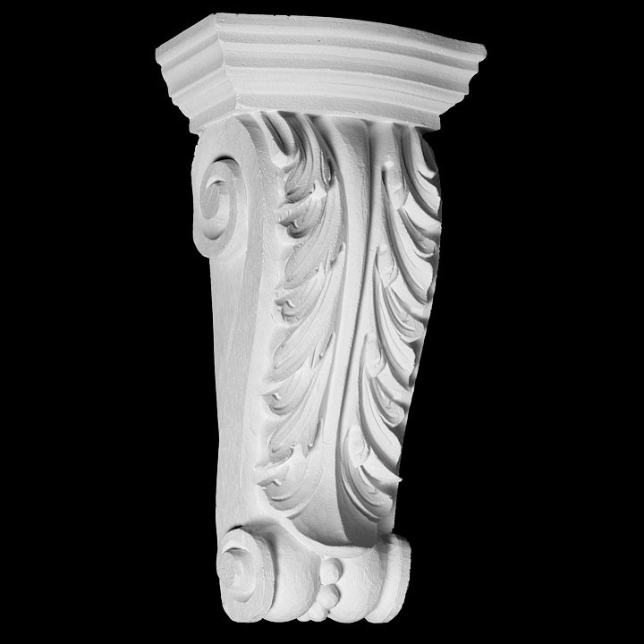 CB-218 Series Acanthus Leaf with Beads Resin Corbel