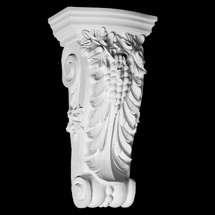 CB-219 Series Acanthus Leaf and Grapes Resin Corbel