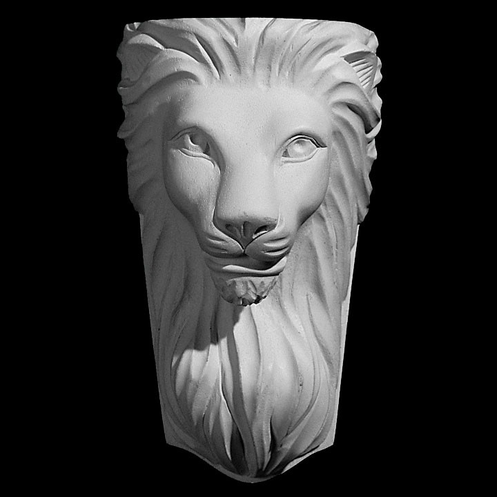 CB-272 Series Smooth Lion Head Resin Corbel