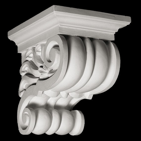 CB-300 Smooth Rounded Ridges Resin Corbel