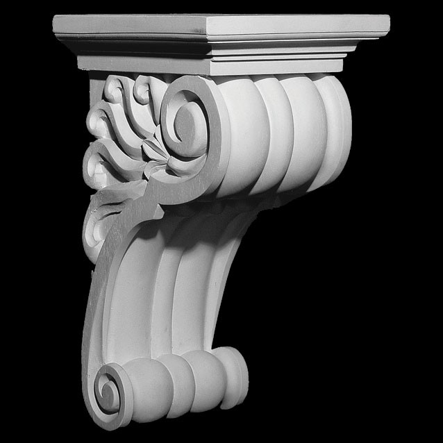 CB-318 Convex Ridges Resin Corbel