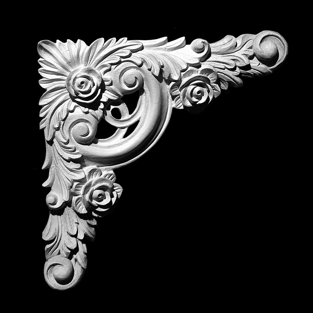 CE-100 Series Acanthus Leaf and Roses Resin Corner Element