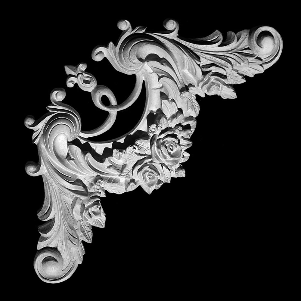 CE-104 Series Acanthus Leaf and Roses Resin Corner Element