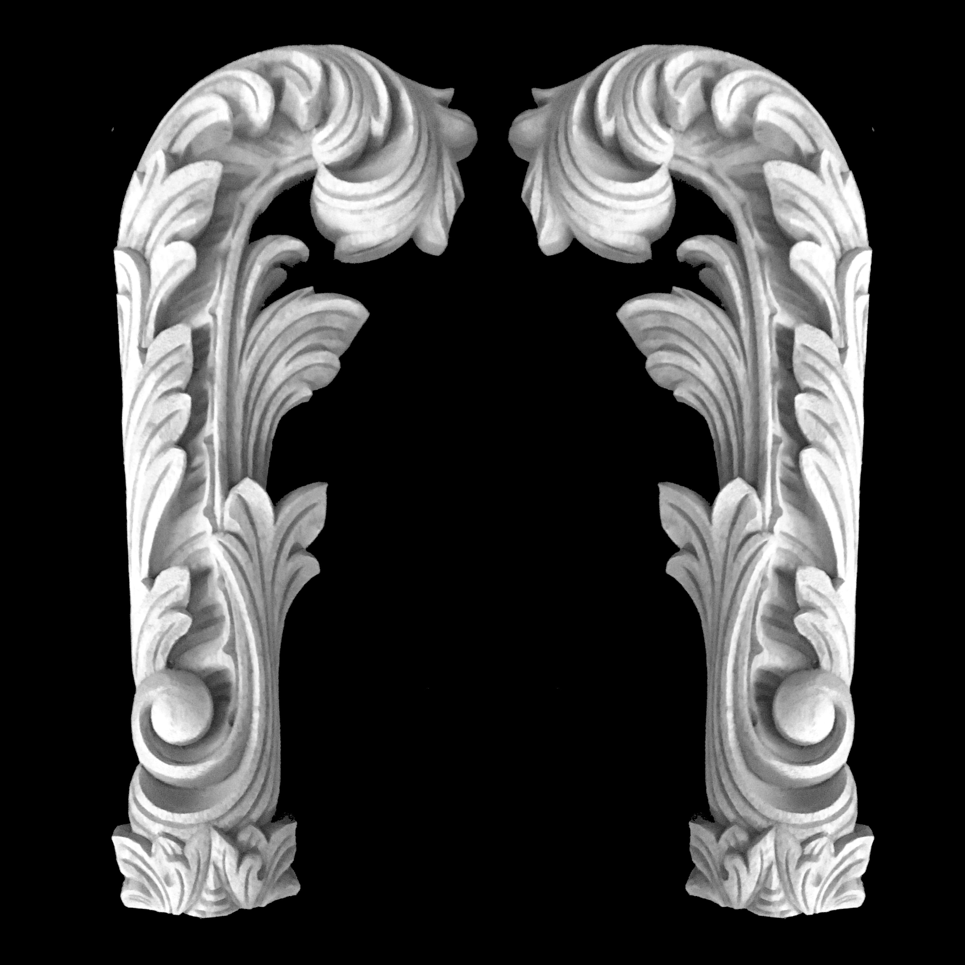 CE-306 Series Acanthus Leaf Flexible Resin Corner Elements