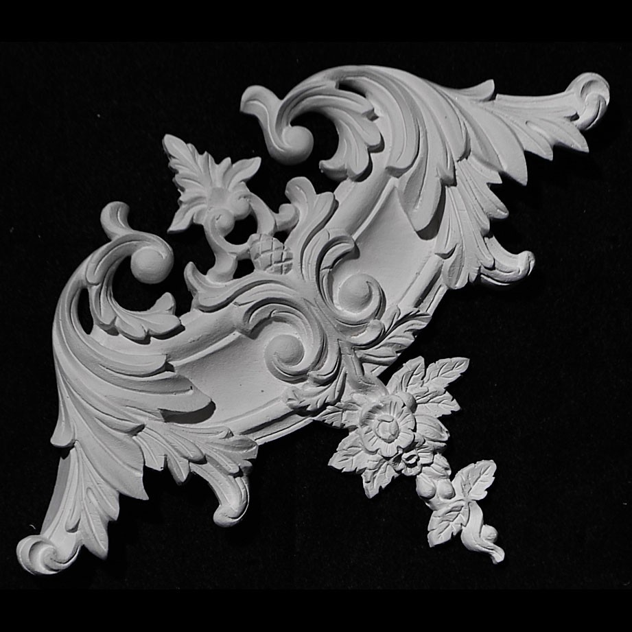 CE-101 Acanthus Leaf and Floral Resin Corner Element