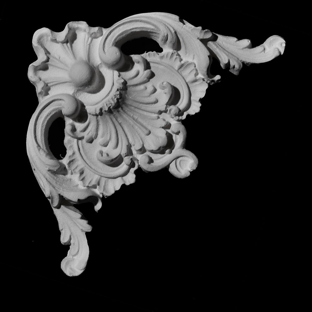 CE-137A Acanthus Leaf and Shell Resin Corner Element