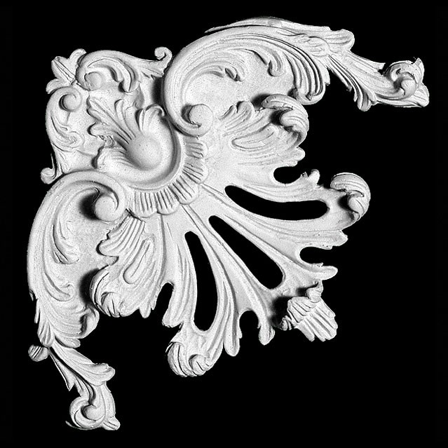 CE-139 Acanthus Leaf and Scrolls Resin Corner Element