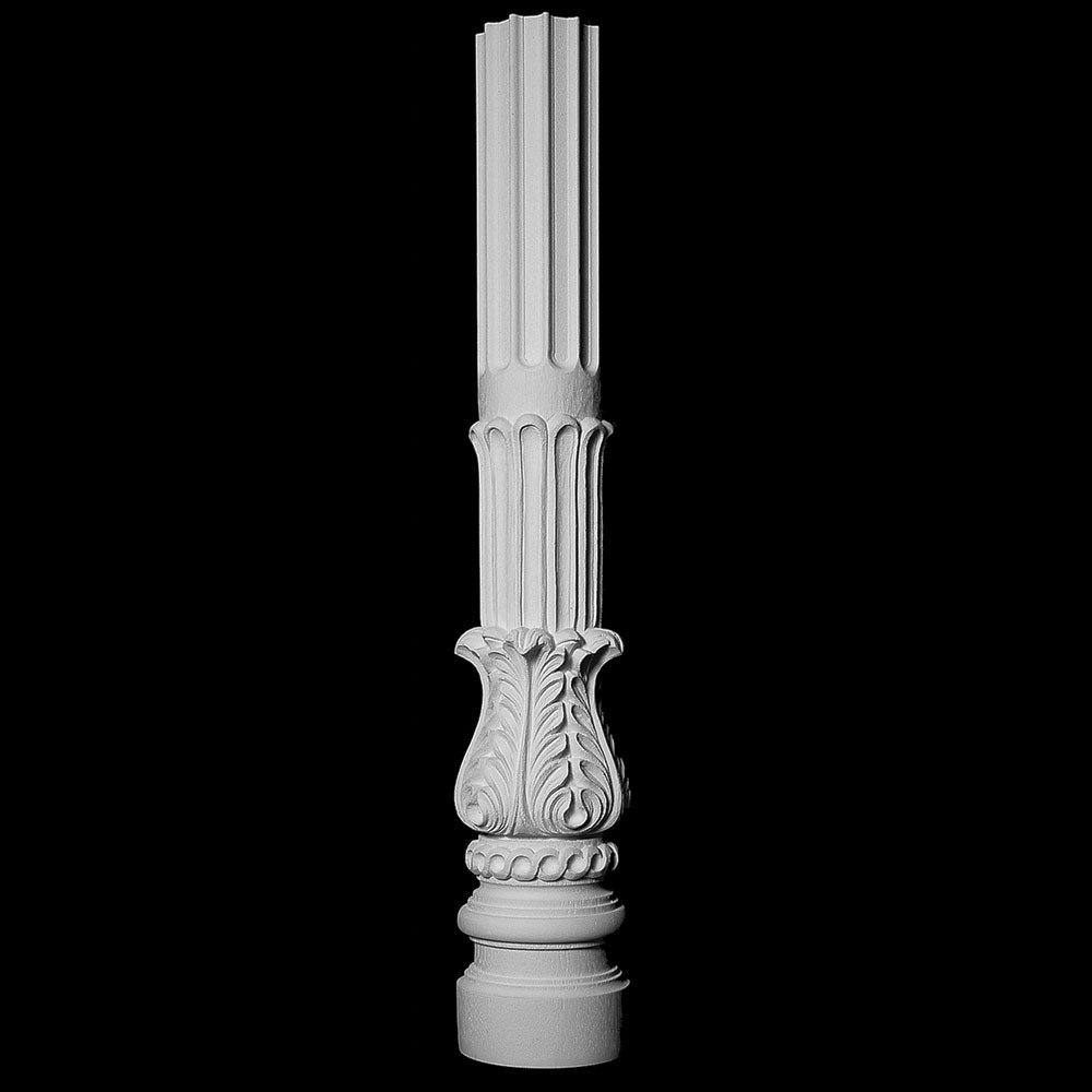 COLM-104A Acanthus Leaf Fluted Resin Column