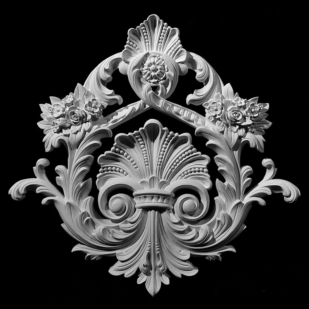 CP-136 Versailles Shell Acanthus Leaf Floral Resin Centerpiece
