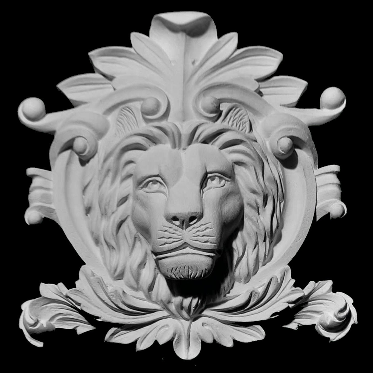 CP-104 Series Acanthus Leaf Lion Shield Resin Centerpiece