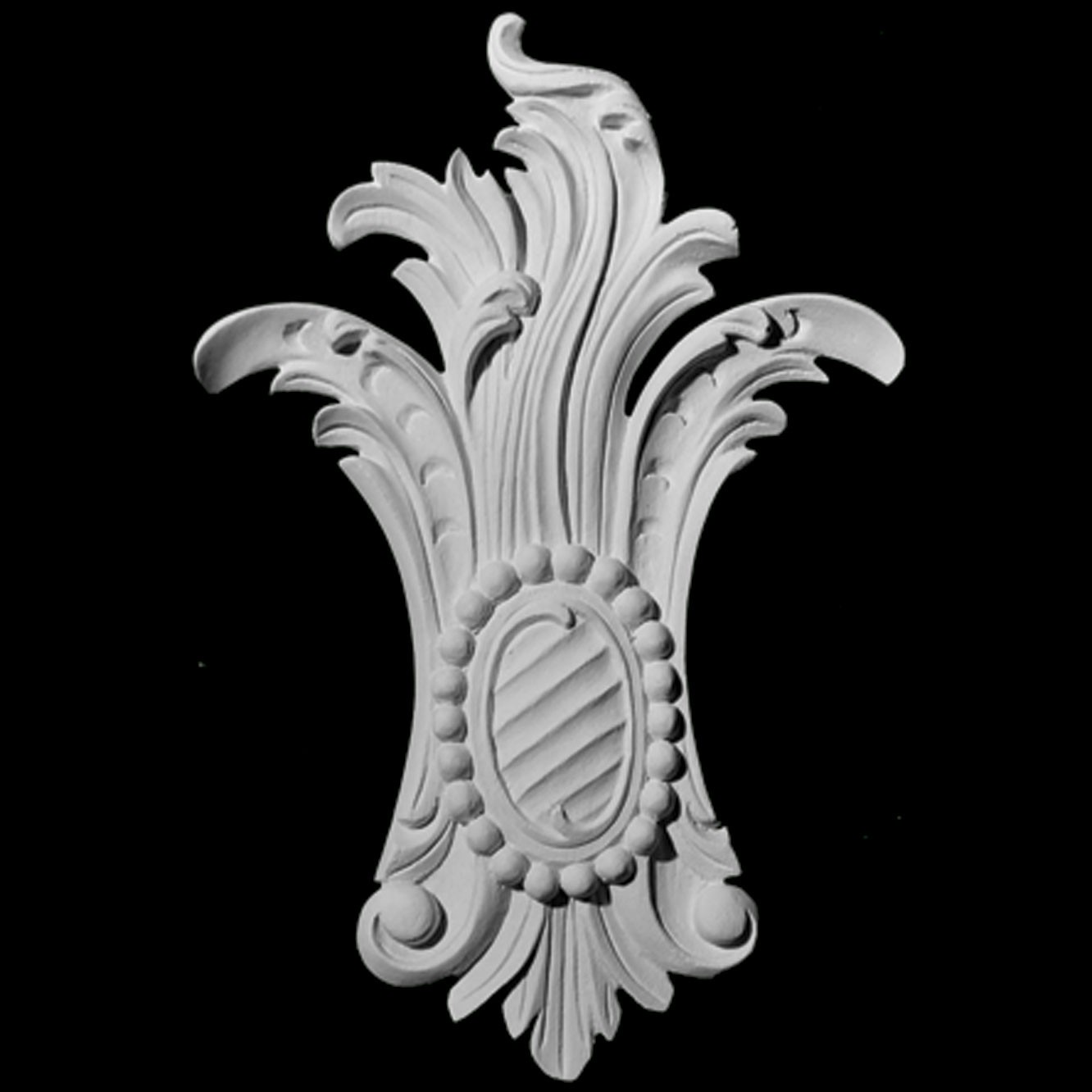 CP-108 Series Acanthus Leaf and Pearls Resin Centerpiece