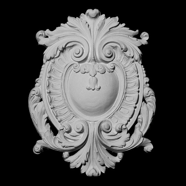 CP-125 Series Acanthus Shield with Crest and Swag Resin Centerpiece