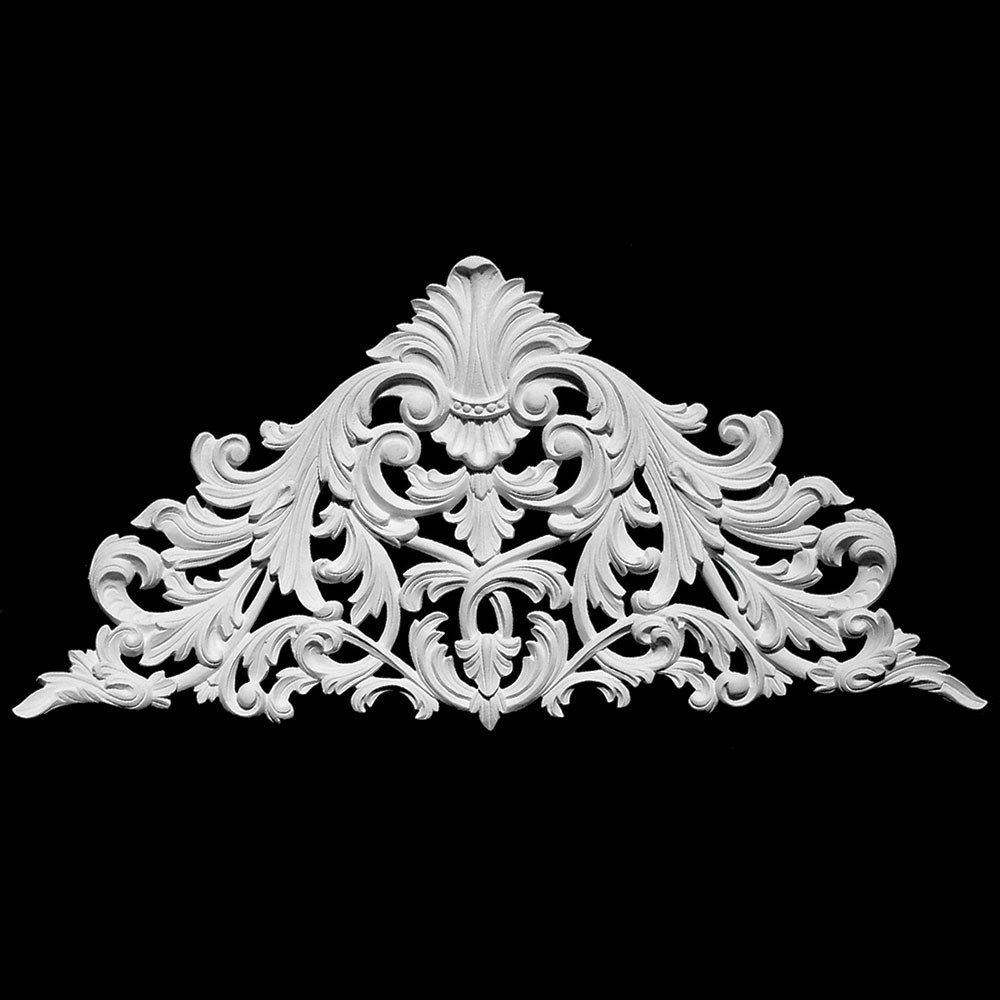 CP-165 Acanthus Leaf Triangular Resin Centerpiece