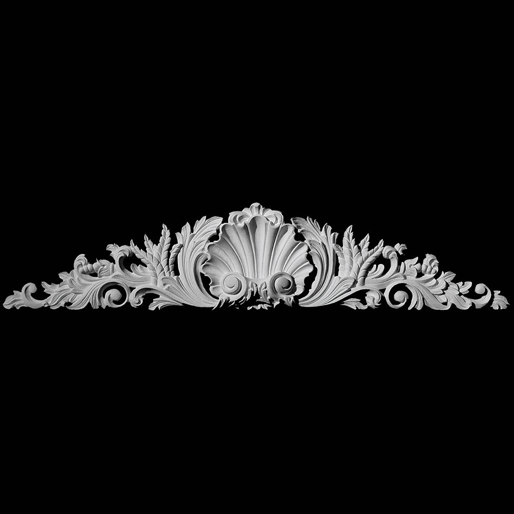 CT-105S Series Shell Center with Acanthus Leaf Resin Cartouche