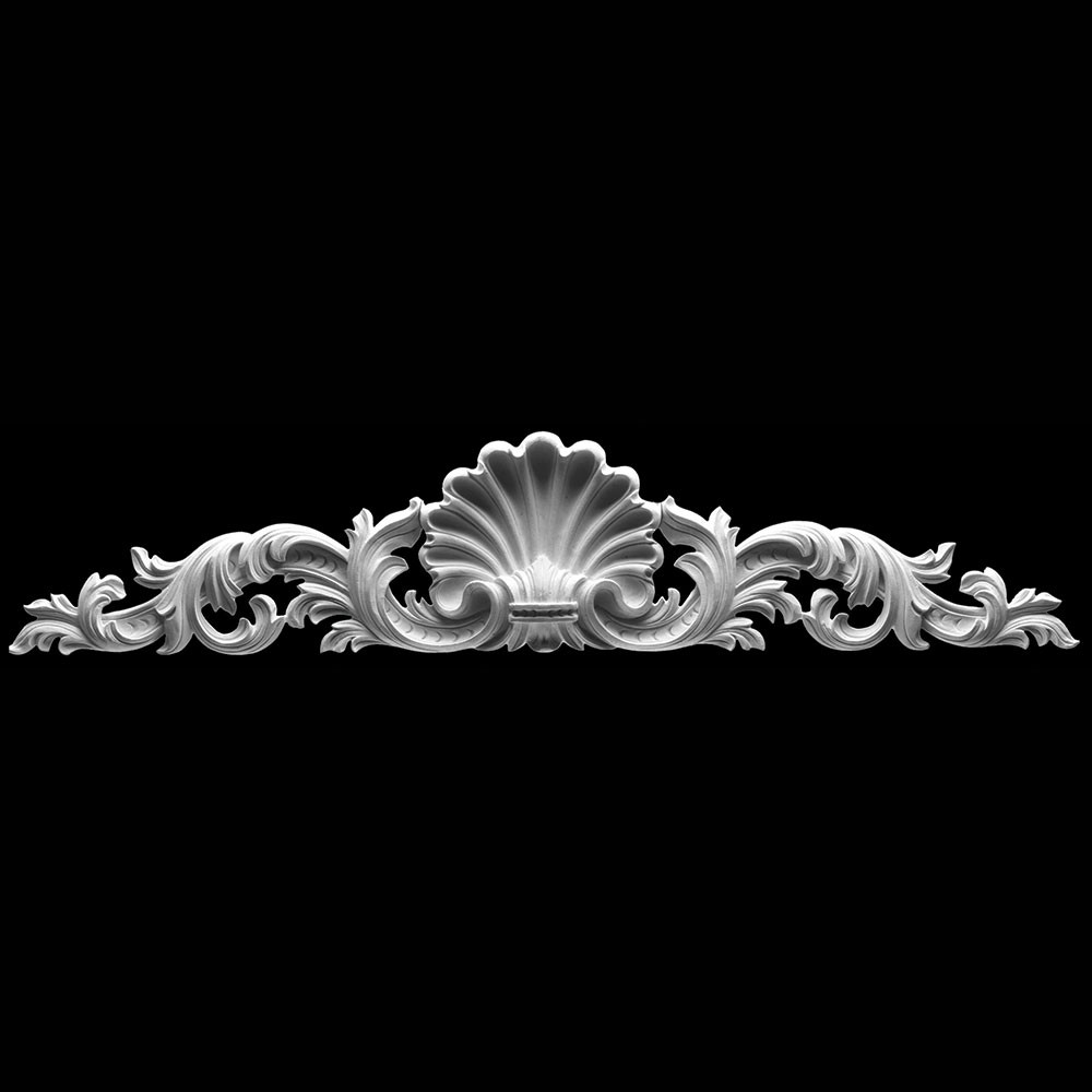 CT-127 Series Shell with Acanthus Leaf Resin Cartouche