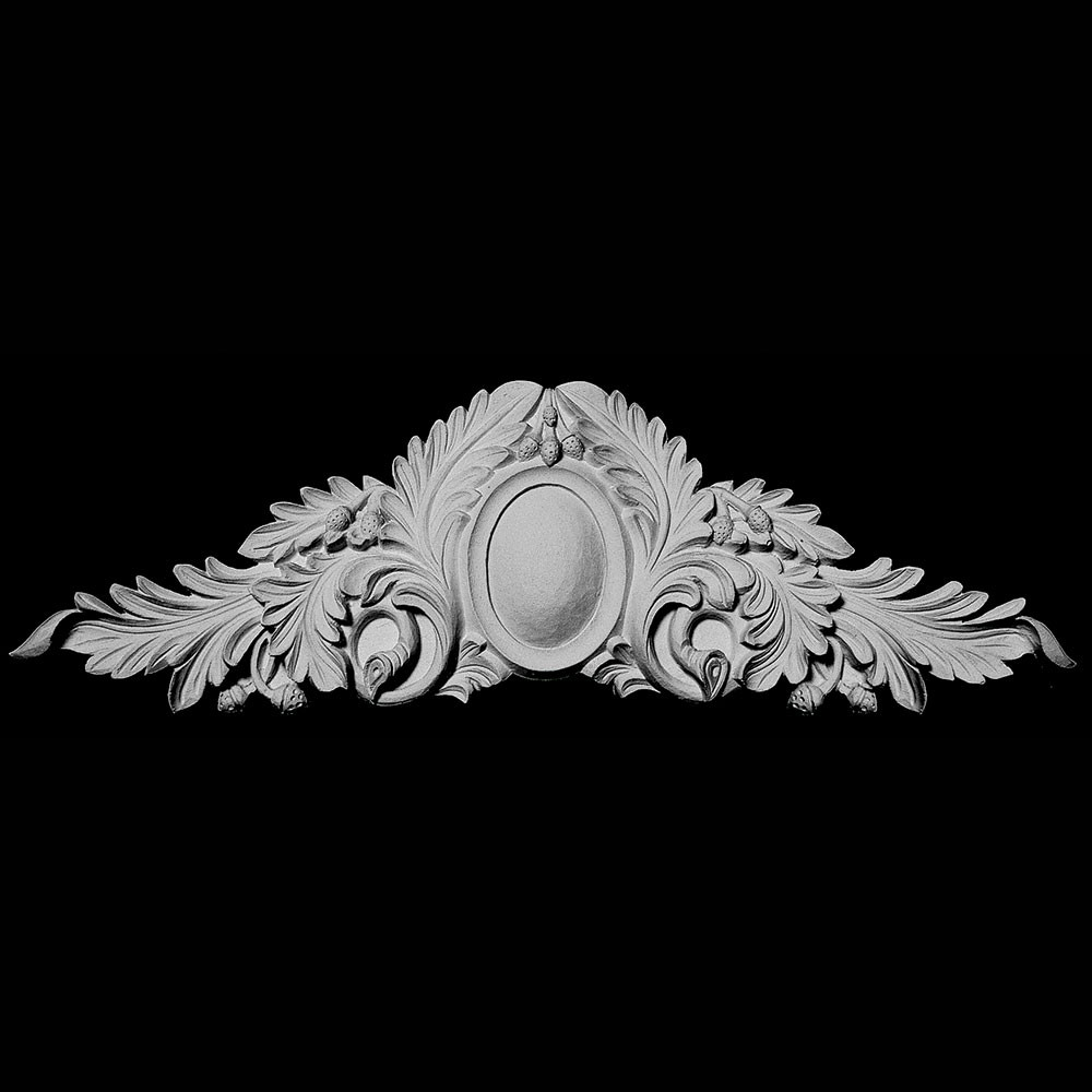 CT-200 Series Oval Shield with Acanthus Leaf and Acorns Resin Cartouche