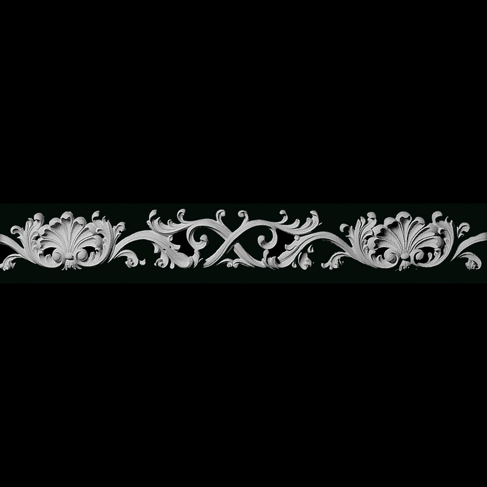 FRZ-188 Shells Leaf and Swag Resin Frieze Moulding