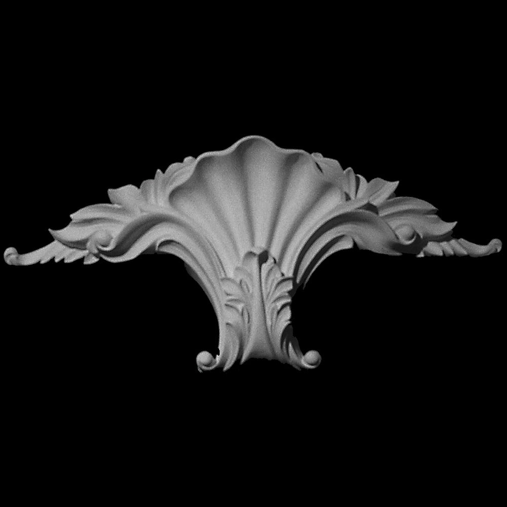 KS-105-XT Series Extended Shell with Acanthus Leaf Resin Keystone