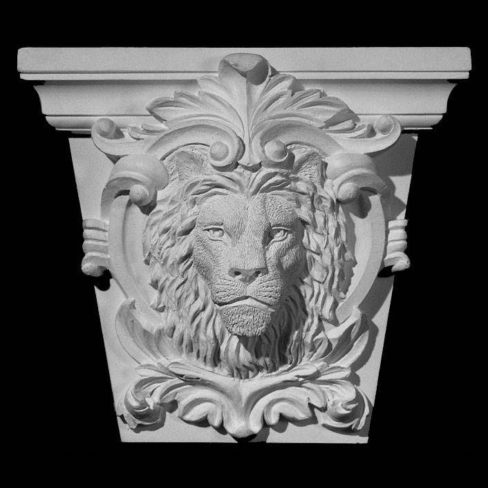 KS3-1, KS4-1, KS5-1 Lion Face On Shield Resin Keystone