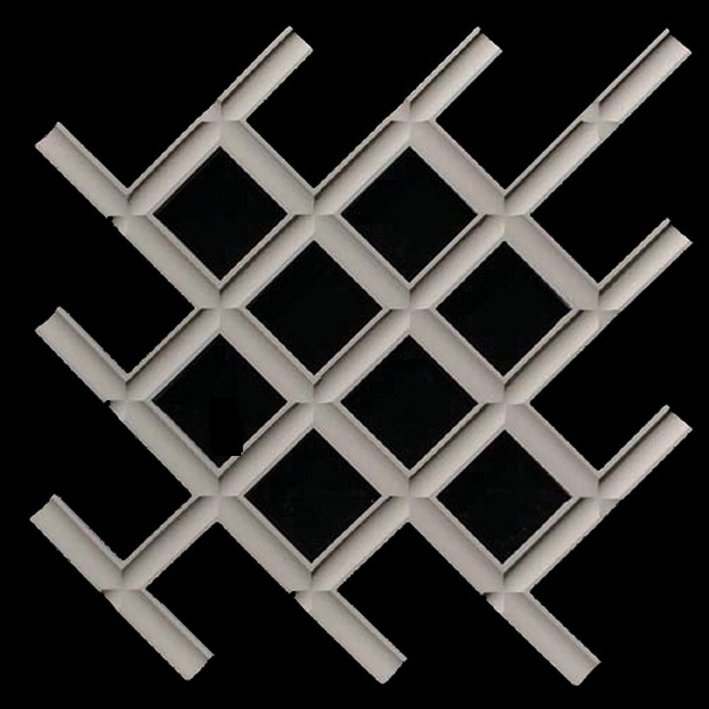 PANL-114A Plain Interlocking Woven Grille with Open Back Resin Panel