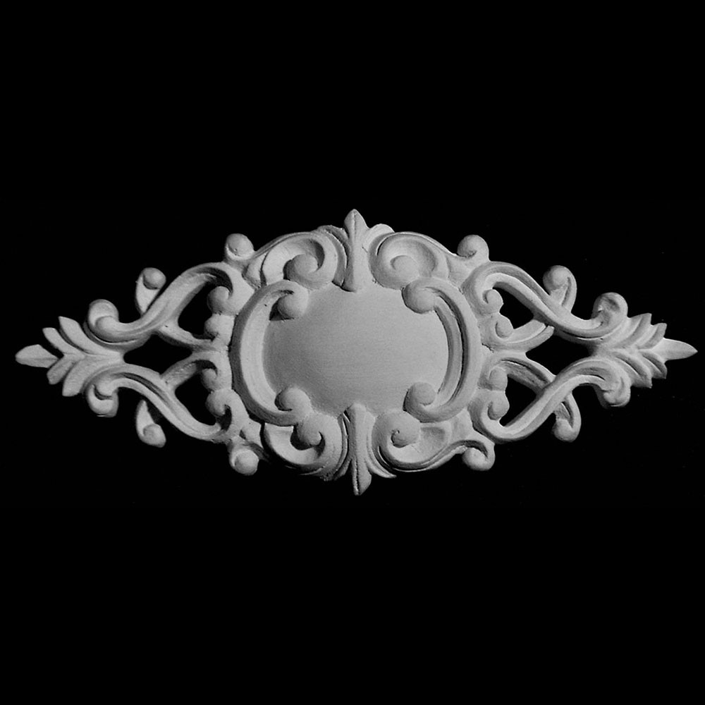 ROST-280 Oval Shield and Scroll Resin Rosette