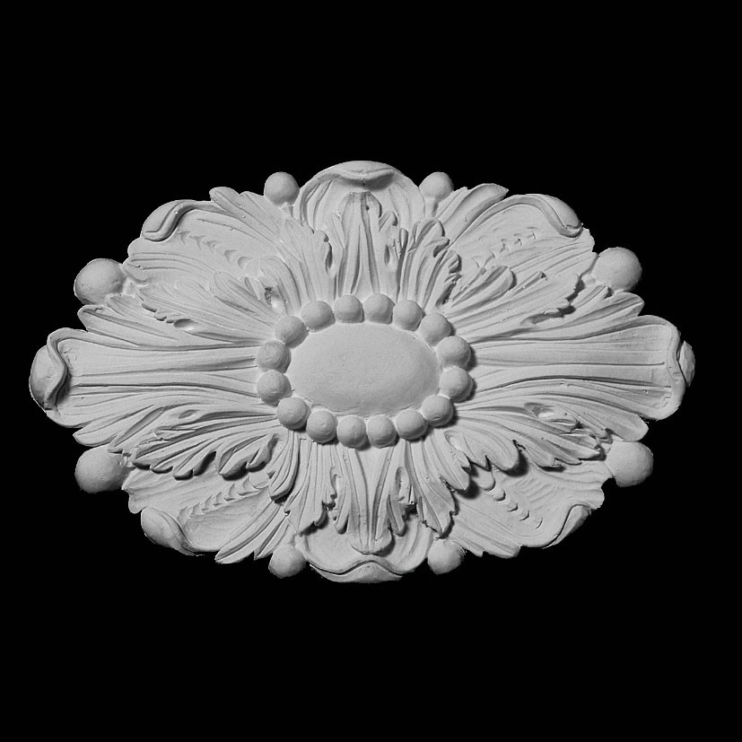 ROST-138 Series Oval Leaf with Oval Shield Center Resin Rosette