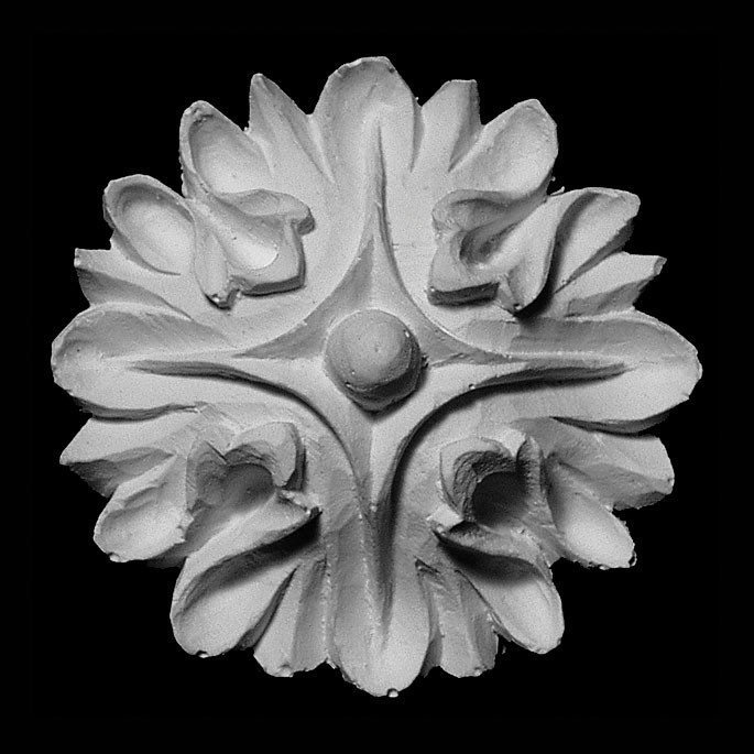 ROST-275 Round Smooth Florette Resin Rosette