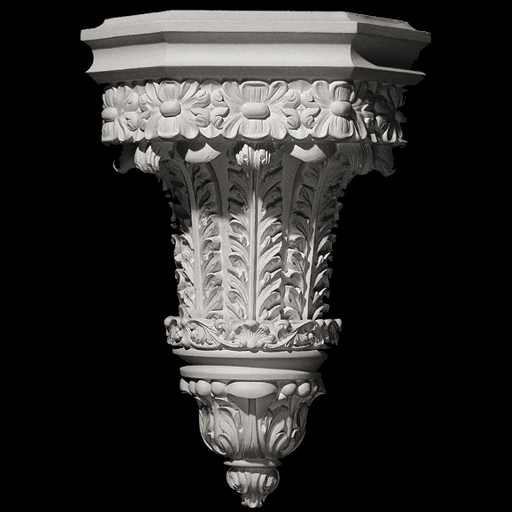 SCON-101 Acanthus Leaf and Floret Resin Wall Sconce