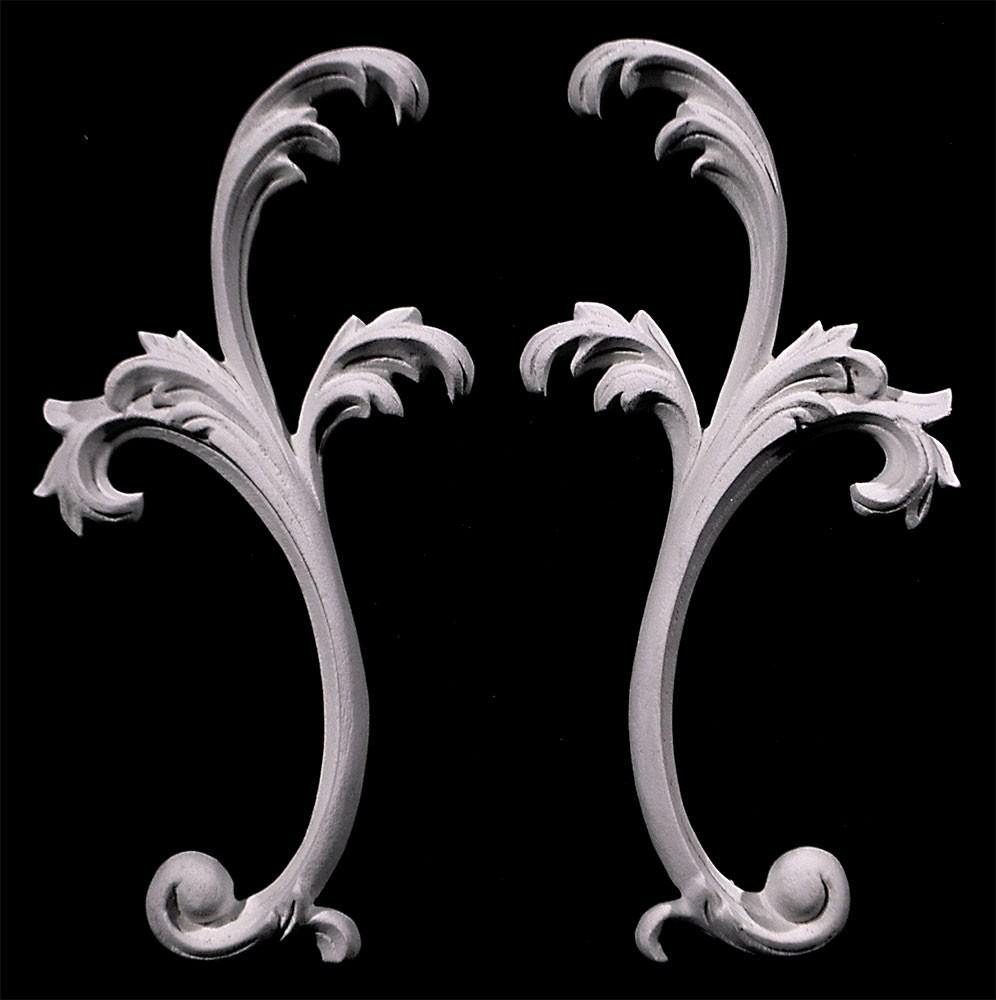 SW-141 Series Acanthus Leaf Resin Swag Pair