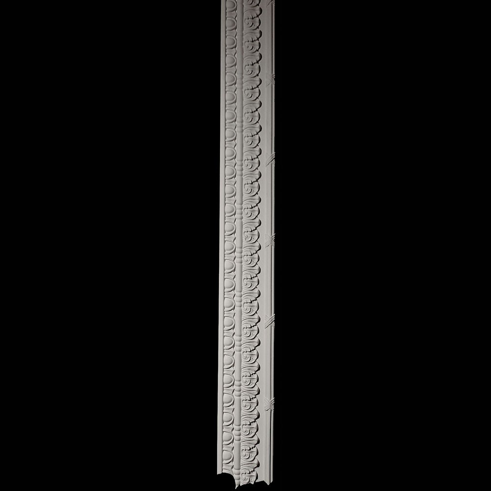 """VSL-L-7' 10"""" Left Lambs Tongue and Ribbon and Reed Column Versailles Resin Collection"""