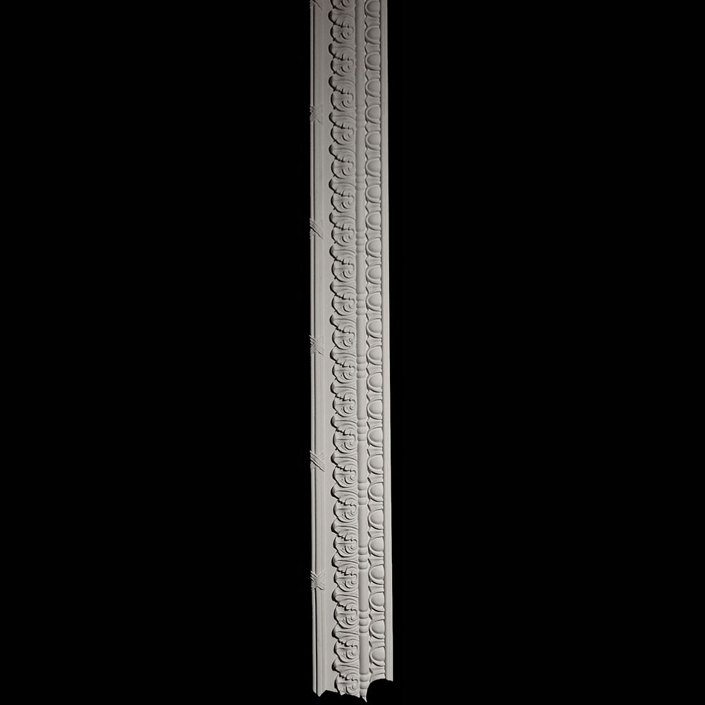 """VSL-R-7' 10"""" Right Lambs Tongue and Ribbon and Reed Column Versailles Resin Collection"""