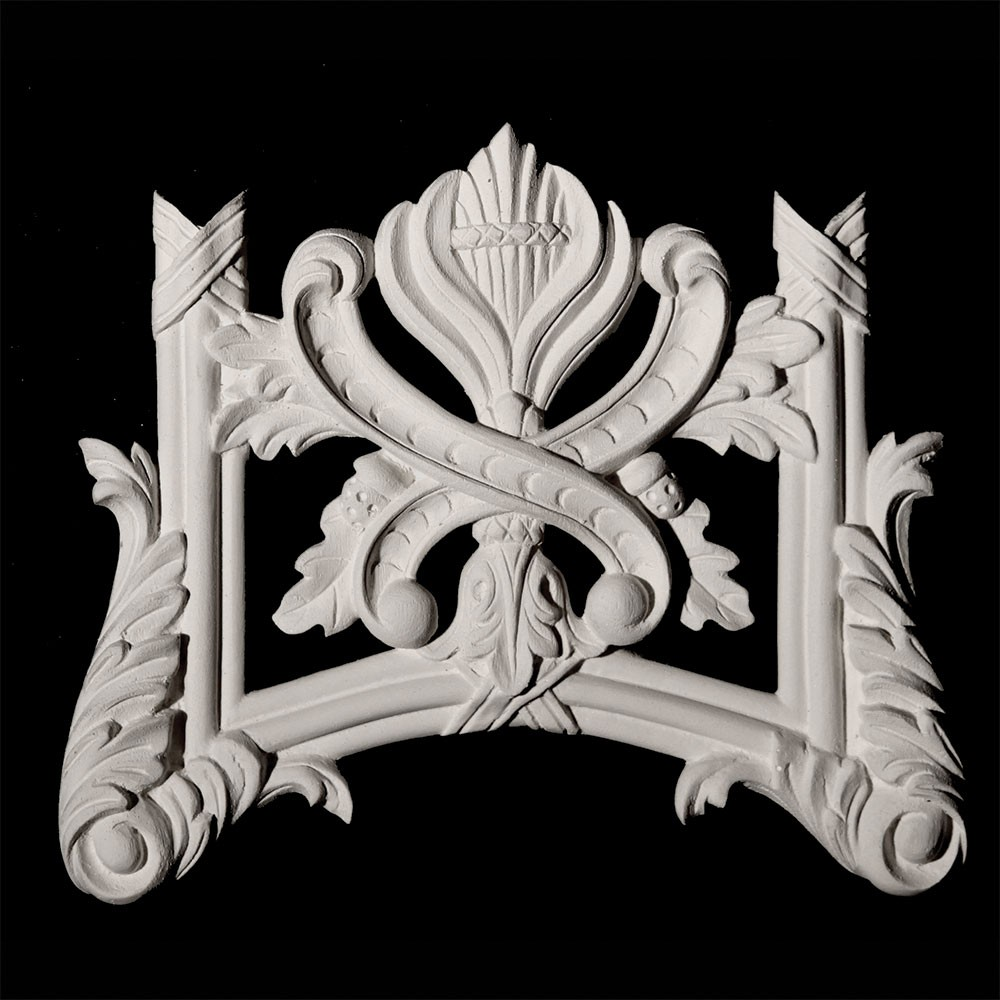 VSS3 Scroll with Leaf, Flower, and Ribbon and Reed Moulding Versailles Resin Collection