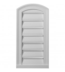 "EM-GVEY12X24D - 12""W x 24""H x 1 3/4""P, Eyebrow Gable Vent Louver, Decorative"