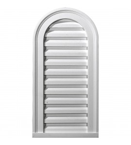 "EM-GVCA12X24D - 12""W x 24""H x 1 7/8""P, Cathedral Gable Vent Louver, Decorative"