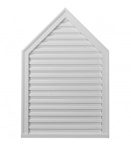 "EM-GVPE24X36D - 24 3/8""W x 36 3/8""H x 1 5/8""P, 6/12 Pitch, Peaked Gable Vent, Decorative"