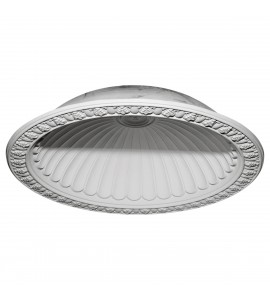 "EM-DOME60CL - 60 3/4""OD x 50 1/8""ID x 12 5/8""D Claremont Recessed Mount Ceiling Dome (53""Diameter x 14""D Rough Opening)"