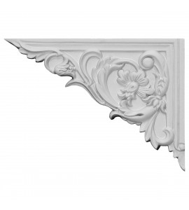 "EM-SB08X06FL-L - 8 5/8""W x 6 1/4""H x 5/8""D Flower Stair Bracket, Left"