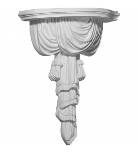 "EM-SH09X04X12CH - 9 3/4""W x 4 1/2""D x 12 1/8""H Tassel and Ribbon Shelf"