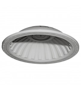 "EM-DOME31MI - 31 7/8""OD x 25 1/8""ID x 7 3/8""D Milton Recessed Mount Ceiling Dome (25 1/8""Diameter x 6 7/8""D Rough Opening)"