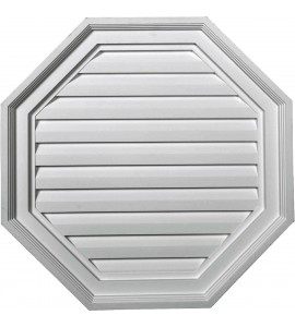 "EM-GVOC22X22D - 22""W x 22""H x 2 1/8""P,  Octagon Gable Vent Louver, Decorative"