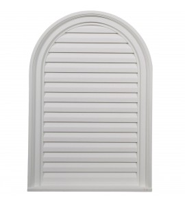 "EM-GVCA22X32D - 22""W x 32""H x 2 1/8""P, Cathedral Gable Vent Louver, Decorative"